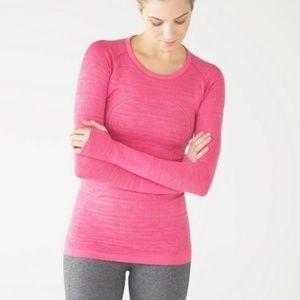 Lululemon pink swiftly tech long sleeve top size 6